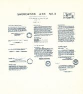 Shorewood Add. No. 3 -Sheet No. 1, King County 1945 Vols 1 and 2